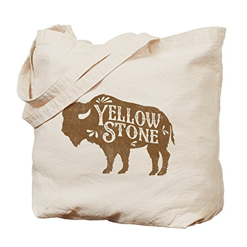 CafePress Yellowstone–Buffalo Tote Bag–Natural gamuza de bolsa de lona bolsa, bolsa de la compra
