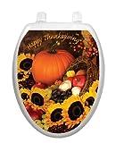 Bountiful Harvest Toilet Tattoo TT-1112-O Elongated Winter Holiday