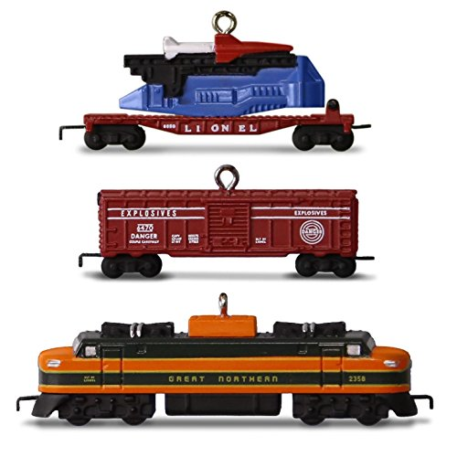 Hallmark 2016 Christmas Ornament LIONEL® 2533W Great Northern Freight Set of 3 Mini Ornaments