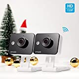 Zmodo 720p HD WiFi Wireless Smart Security Camera Two-Way Audio (2- Pack) (Electronics)