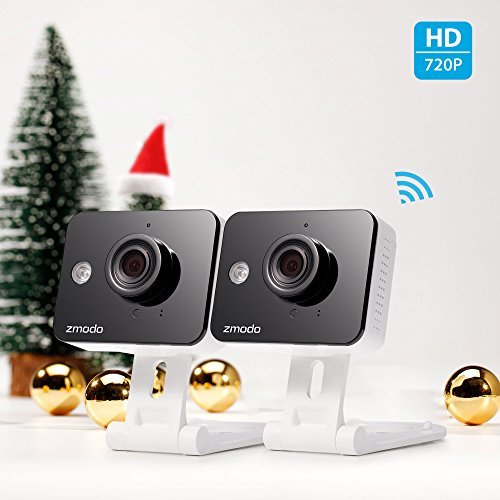 Zmodo 720P HD WiFi Wireless Smart Security Camera Two-Way Audio(2- Pack) - Cloud Service Available