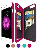 iPhone 6/6S Wallet Mirror Case for Girl -Bidear (TM) Creative Mirror Design with 3 Card Holder Slot Protective Hard Case for Apple iPhone 6 & iPhone 6S -4.7Inch (Rose)