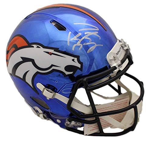 Peyton Manning Autographed/Signed Denver Broncos Chrome Proline Helmet FAN