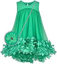 Sunny Fashion Girls Dress A-line Cute Handbag White Princess Size 5-10