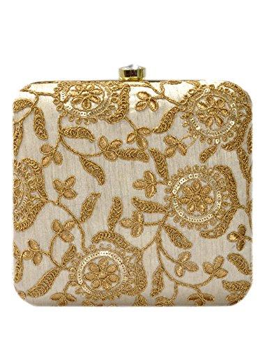 Duchess Handicraft Flower Box Clutch Evening Bags For Women Handbags Purse For Party