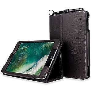 Snugg Leather Flip Stand Case for Apple iPad Mini & Mini 2 with Retina - Black