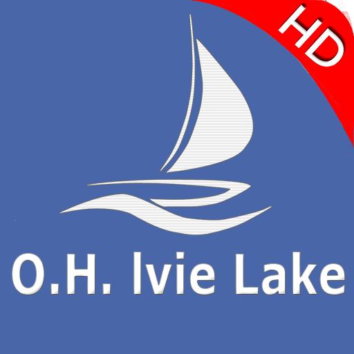 O.H. Ivie Lake Offline GPS Charts ()
