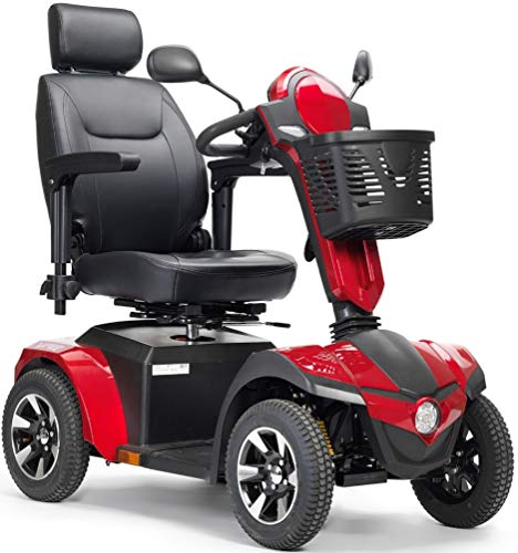 (Drive Medical Panther Captain Seat 4 Wheel Heavy Duty Scooter, Red, 20)
