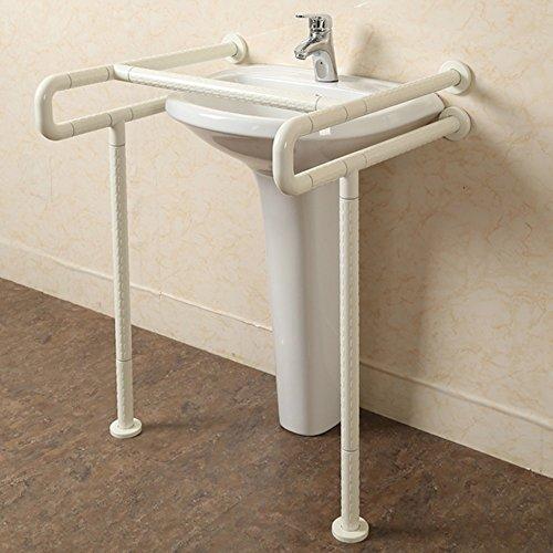 QFFL fushou Handrail Pedestal Basin Handrail Barrier-Free Bathroom Elderly Disabled Hand Basin Handle (Color : White)