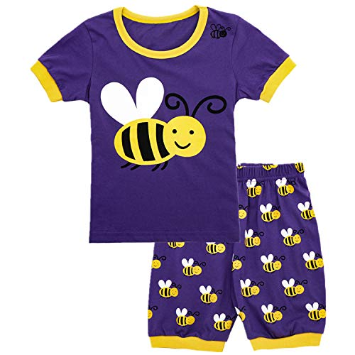 Qtake Fashion Girls Pajamas Set Children Clothes Set 100% Cotton Toddler Pjs Sleepwear bee PJS Size 12M-12T (Pajamas3, -