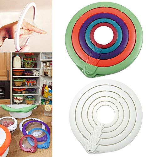 Leoattend 1 Set Vacuum Cover Lid Food Sealer Fresh Seal Bowl Cup Portable Tool for Kitchen
