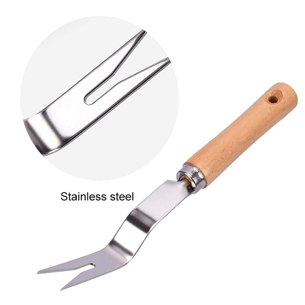 Garden Transplant Gardening Bonsai Tools For Flower Vegetable Plants Care MOGOI Hand Weeder Tool Stainless Manual Weeder With Ergonomic Handle Garden Weeding Tools For Planting And Weeding