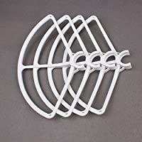 Drone Fans 4 Pcs Snap on/off Quick Release Propeller Prop Guards CW & CC Propeller Guards Protectors for DJI Phantom 4 (White)
