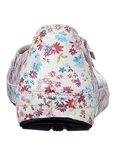 Naturläufer Slipper weiß-floral