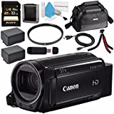 Canon 32GB VIXIA HF R72 Full HD Camcorder 1236C003 + BP-727 High Capacity Battery + Sony 32GB SDHC Card + Compact Camcorder Case + Flexible Tripod Bundle