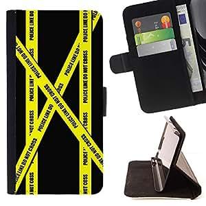 Momo Phone Case / Flip Funda de Cuero Case Cover - Do not Go Tape Policía Crime Scene Amarillo - Sony Xperia Z5 5.2 Inch (Not for Z5 Premium 5.5 Inch)