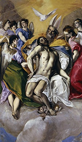 (El Greco - The Holy Trinity, Size 20x36 inch, Poster Art Print Wall décor)