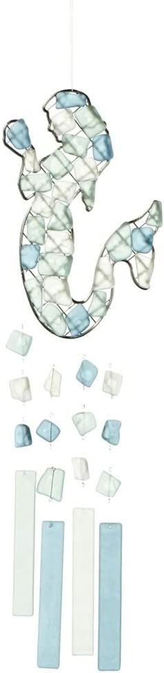 MIDWEST-CBK Peaceful Sea Glass Wind Chime (Mermaid Upright)
