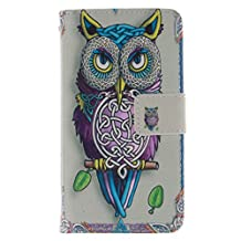Galaxy Core 4G Case, Galaxy Core LTE Case, SATURCASE Beautiful Pattern PU Leather Flip Wallet Stand Card Slots Case Cover for Samsung Galaxy Core LTE / 4G SM-G386F