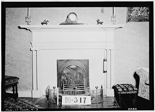 8 x 12 Photo 3. Historic American Buildings Survey Feb. 1st, 1934. W. N. Manning, Photographer. Mantel Fireplace. - Helen Keller House, 300 West North Commons, Tuscumbia, Colbe After 1933 95a by Vintography
