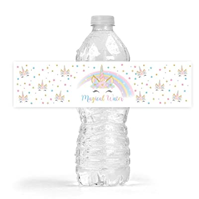 Magical Unicorn Bottle Wraps, 25 Unicorn Water Bottle Labels: Health & Personal Care