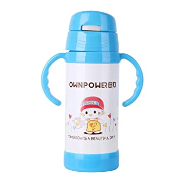 CMXHGKDJ Botella Frascos de vacío de Paja para niños Termos ...
