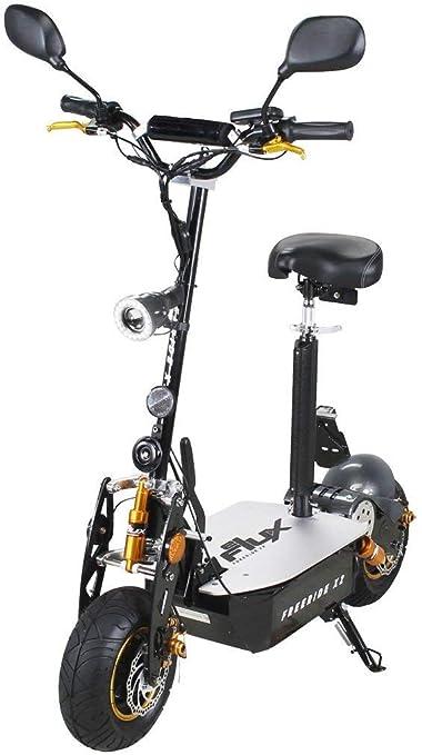 eFlux Freeride X2 Elektroroller Scooter - 2000 Watt Motor - Scheibenbremsen - Multifunktionsanzeige - Straßenzulassung