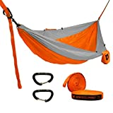 Kampin Gear makes the best quality hammocks and accessories for less! We stand behind all our products with a LIFETIME WARRANTY, see our website for complete details. Everything you need is included- 15 kN wiregate carabiners, not cheap hooks or shar...