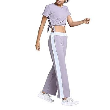 XMYL Conjunto Ropa Deportiva Mujer Pantalones + Tops Conjunto de ...