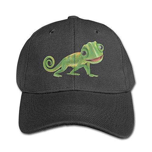 Black béisbol Green Solid Hat Adjustable Chameleon and Baseball Gorras Lizard Color Boys Girl Cap pxqUqB