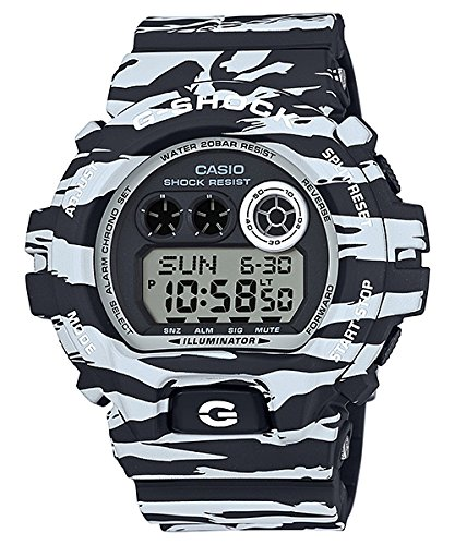 White Tiger Camo (G-Shock GDX-6900BW-1 Black and White Series Luxury Watch - Tiger Camo / One Size)