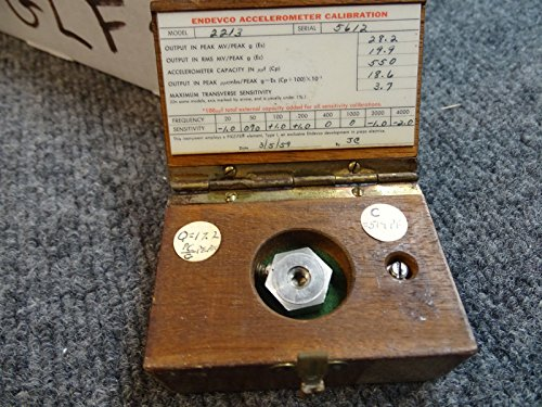 Endevco 2213 Accelerometer w/ Calibration in Wooden Box from Endevco
