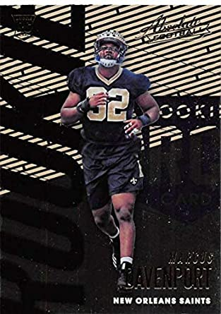 2018 Absolute Football  134 Marcus Davenport Rookie RC Rookie New Orleans  Saints Official NFL Trading ed2f24e67