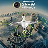 Syma-X5HW-FPV-24Ghz-4CH-RC-Headless-Quadcopter-Drone-UFO-with-Hover-Function-HD-Wifi-Camera-White