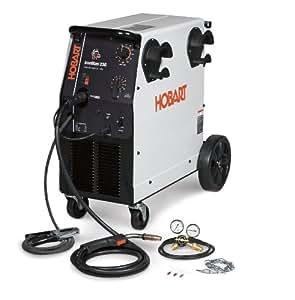 Hobart 500536 Ironman 230 250 Amp MIG Welder With Wheel Kit & Cylinder Rack