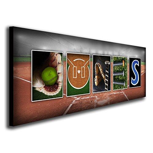 Personalized Softball Name Block Mount