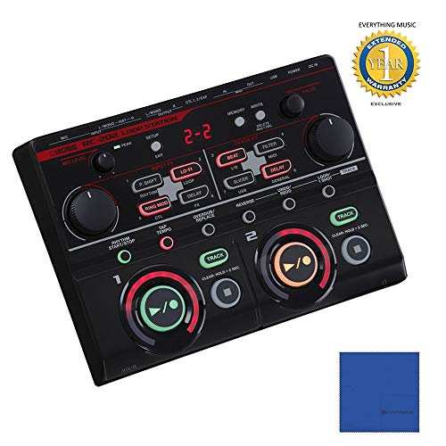 Boss RC-202 Loop Station with Microfiber and 1 Year Everything Music Extended Warranty
