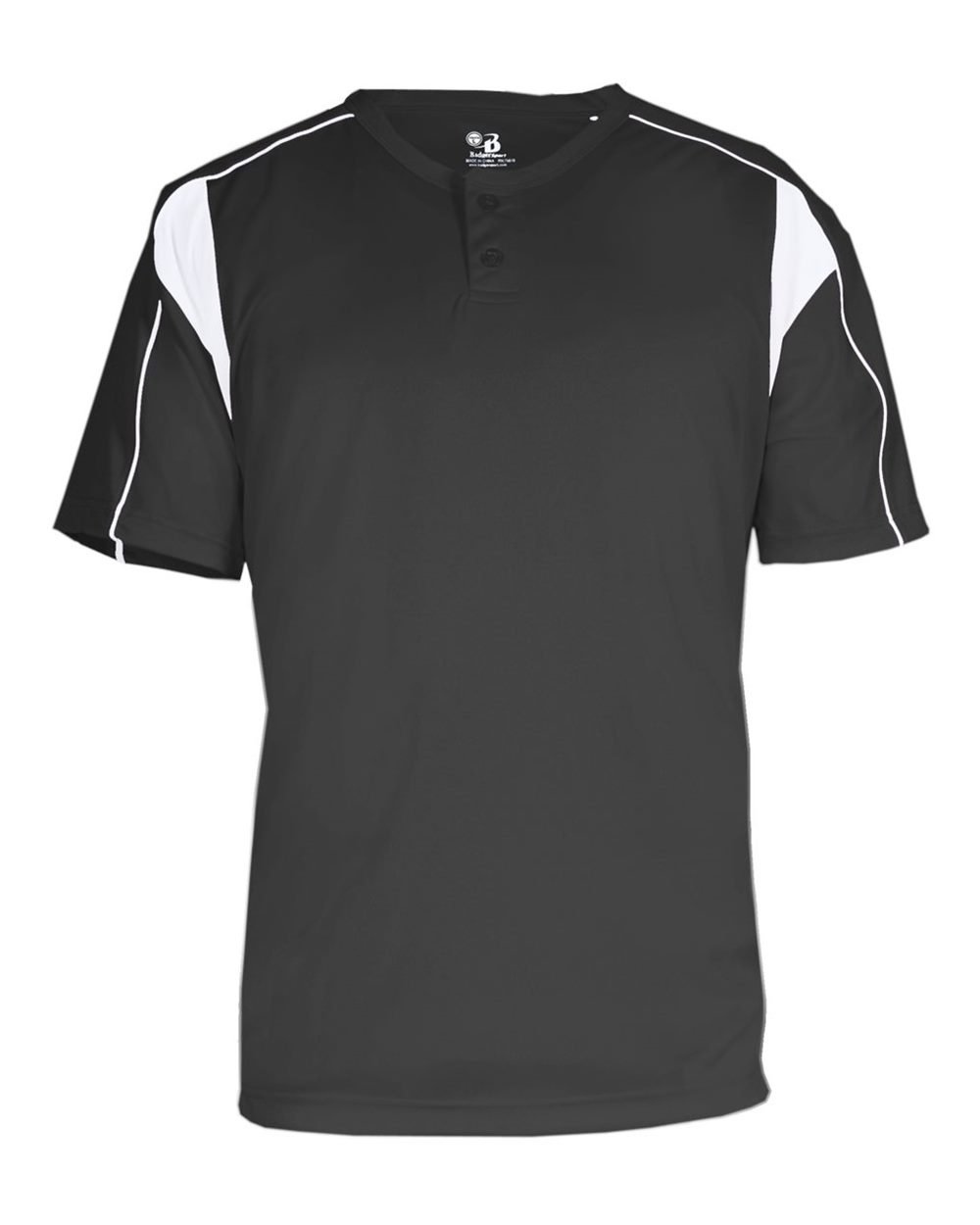 Badger 7937 BD Pro Plkt BSEBLL Tee B00E7O05LEグラファイト/ホワイト 4X-Large