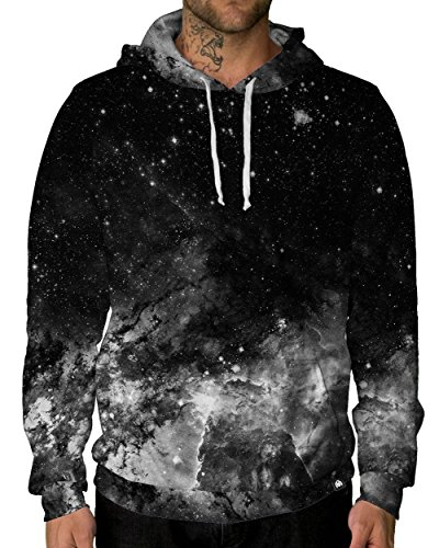 INTO THE AM Men's Galaxy Premium Long Sleeve Lightweight Hoodie Sweatshirt - Ready to Ship