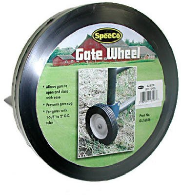 SpeeCo Farmex S16100600-GL161006 Gate Wheel; Helps to prevents gate sagging; Allows gate to open and close with ease; Fits round tube gate 1-5/8'' to 2'' O.D.; Easy installation