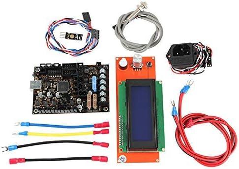 ZT-TTHG Prusa I3 MK3ため 3DプリンタEinsyランボー1.1Aメインボード+ 2004の液晶+フィラメントセンサー+ピンダV2 +電源パニック会