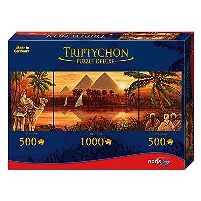 Noris Spiele 606031000 Trittico Puzzle Deluxe Piramidi 2000 Parti