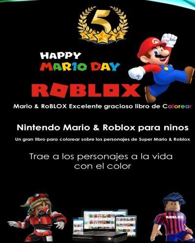 Mario RoBLOX Excelente Gracioso Libro De Colorear Color Super Nintendo Roblox Para Ninos Un Gran Sobre Los Favoritos