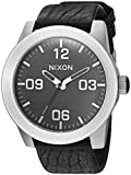Nixon Men's 'Corporal' Quartz Stainless Steel and Leather Casual Watch, Color:Black (Model: A243)