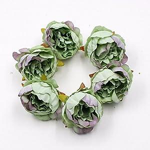 15pcs/lot 5cm Peony Flower Head Silk Artificial Flower Wedding Decoration DIY Garland Scrapbook Gift Box Flower 2