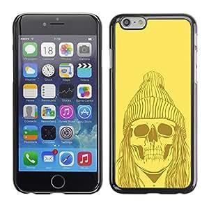 Cubierta de la caja de protección la piel dura para el Apple iPhone 6 (4.7) - Funny Hipster Skull Skeleton