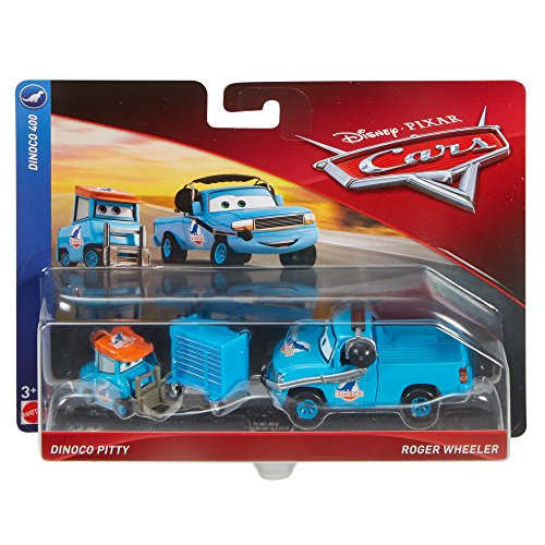 Disney Pixar Cars Character Car Dinoco Pitty & Crew Chief Vehicle, 2 Pack