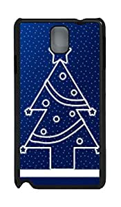 Samsung Note 3 Case Happy & Merry Christmas PC Custom Samsung Note 3 Case Cover Black