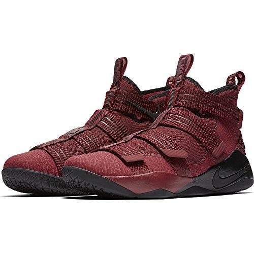 Nike Mens LeBron Soldier XI SFG Basketball Shoe, Team Red/Black-White-Total Crimson, 12