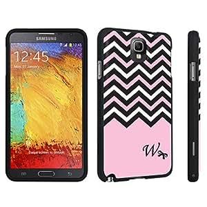 DuroCase ? Samsung Galaxy Note 3 Hard Case Black - (Black Pink White Chevron W)